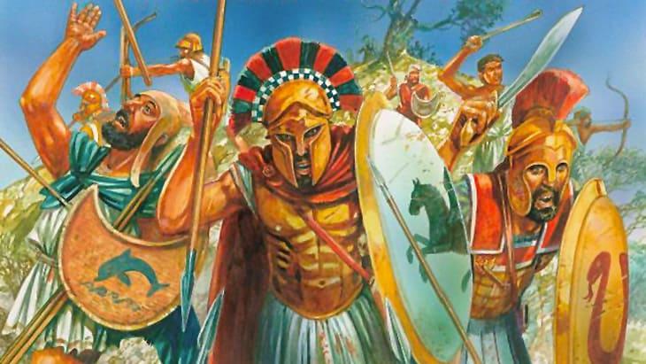 Ausschnitt der Mortal Gods Spielbox
