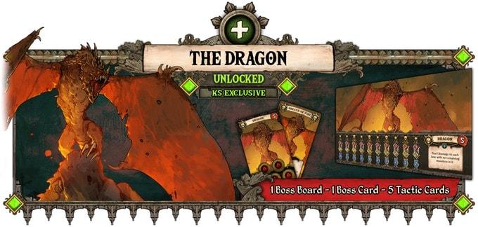 Illustration der Knight Tales Kickstarter-Kampagne. Sie zeigt eine exklusive Miniatur für Unterstützer.