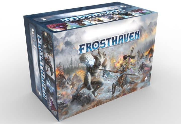 Verpackung des Frosthaven Brettspiels