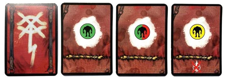 Vier Schicksalskarten für die Orks.