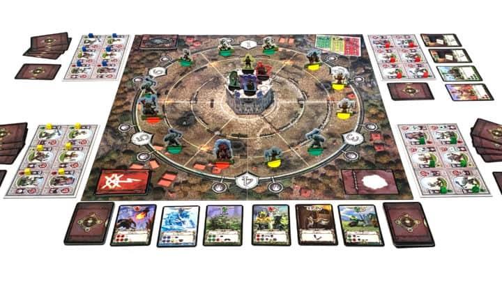 Das Orcs Orcs Orcs Spielfeld zu Spielbeginn.
