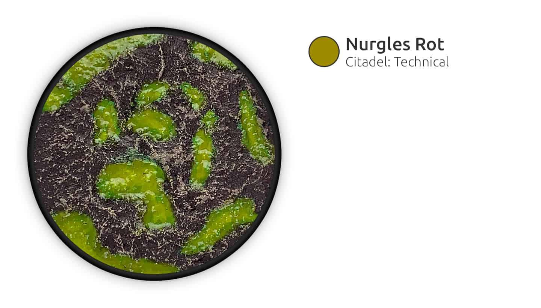 Grüner Wassereffekt lässt die Base schleimig wirken.