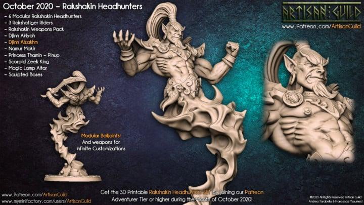 3D Druck-Vorlage einer Djinn-Figur von Artisan Guild