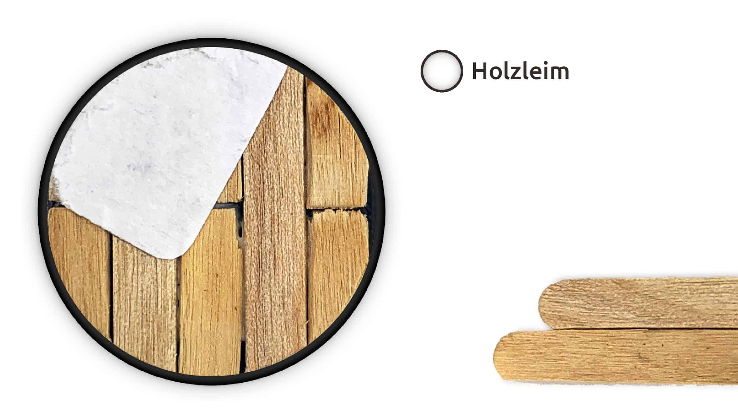 Eine mit Holzstäbchen bedeckte Base für Tabletop-Figuren.