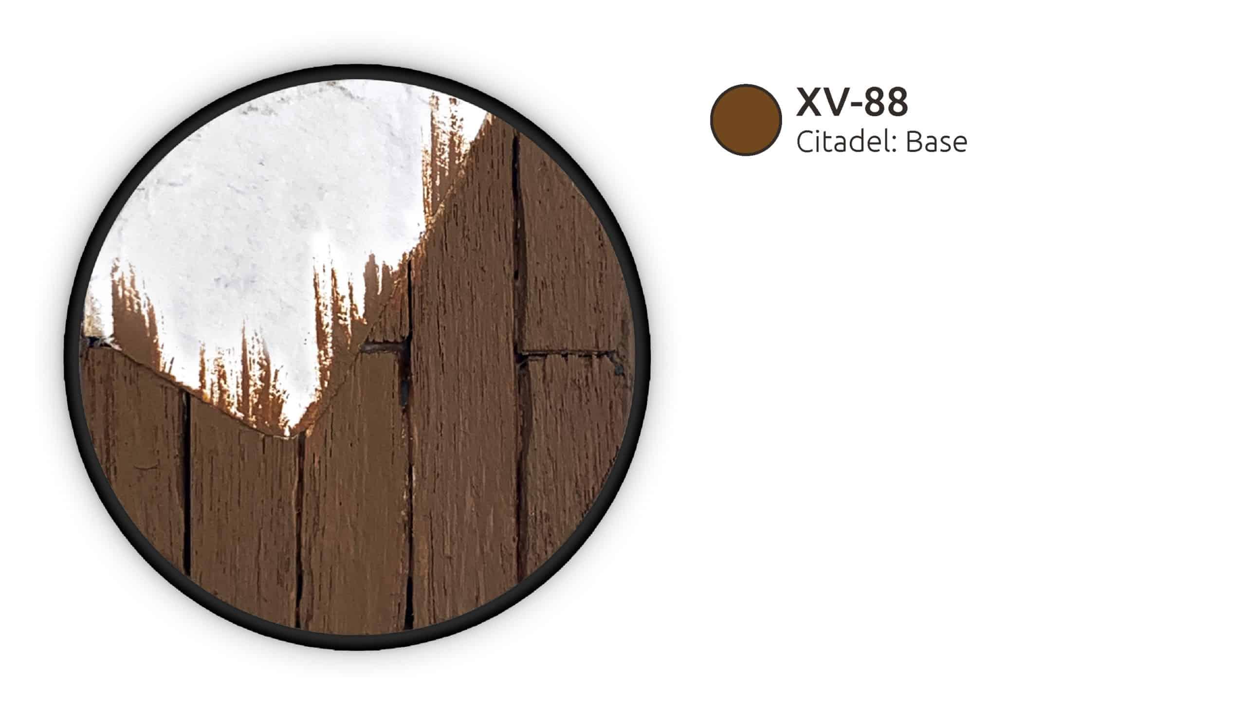Die Holzboden-Base wurde mit XV-88 grundiert.