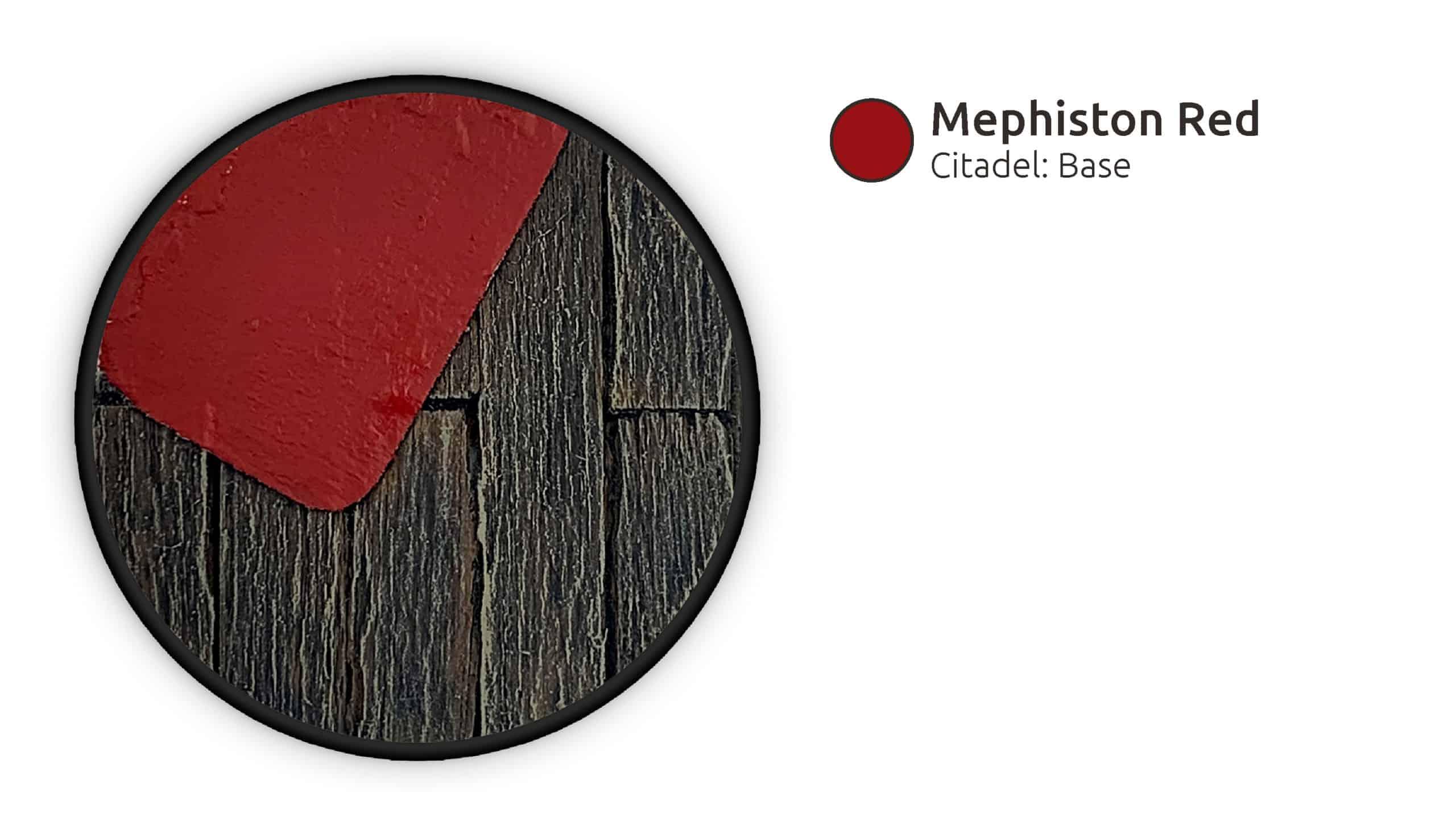 Der Teppich wurde mit Mephiston Red grundiert.