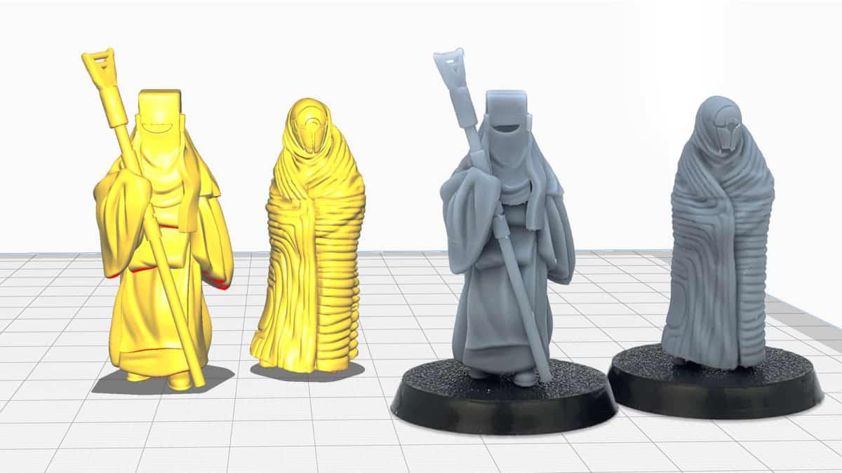 3D-Druck: Miniaturen und Tabletop-Figuren als Druckdatei und nach dem Druck.