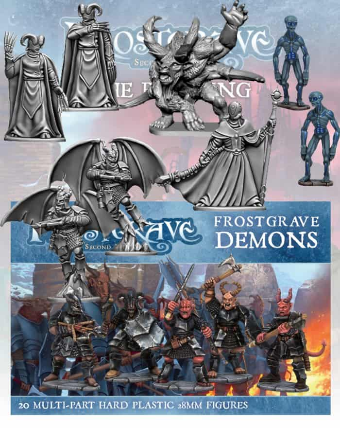 Die neuen Figuren für Frostgrave: The Red King.