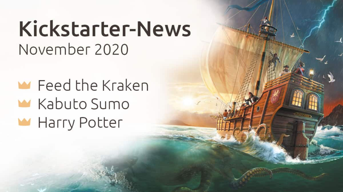 Kickstarter-News November 2020: Feed the Kraken, Kabuto Sumo, Harry Potter
