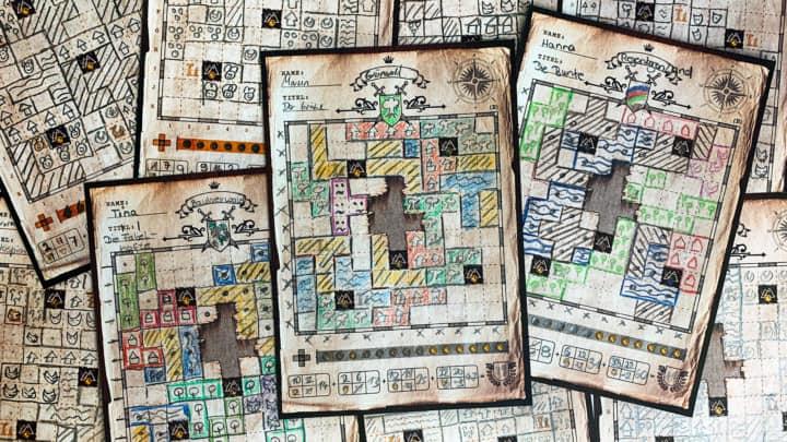 Unsere gezeichneten Landkarten aus mehreren Partien Der Kartograph.