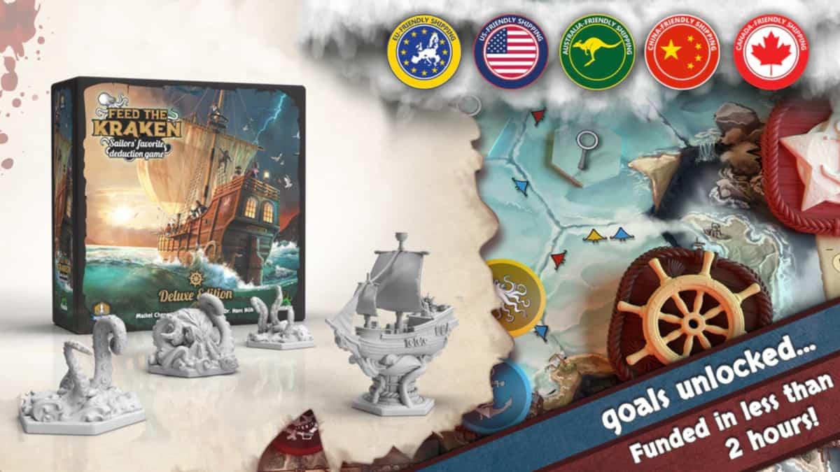 Kickstarter-Kampagne des Brettspiels Feed the Kraken.