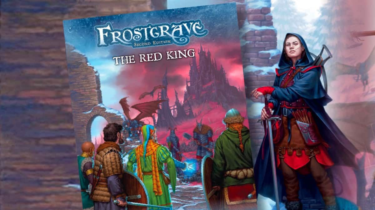 Vorläufiges Cover des Frostgrave: The Red King Regelbuchs.