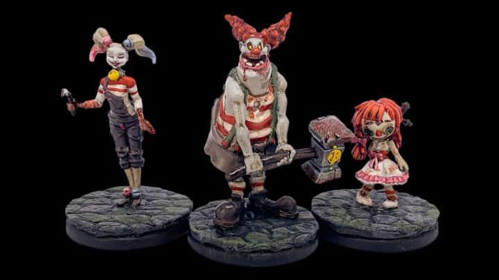 Entfärbte und erneut bemalte Figuren aus dem Spiel Monster Slaughter.