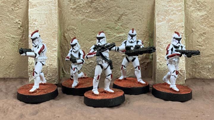 Eine Einheit Klontruppler der Republik.