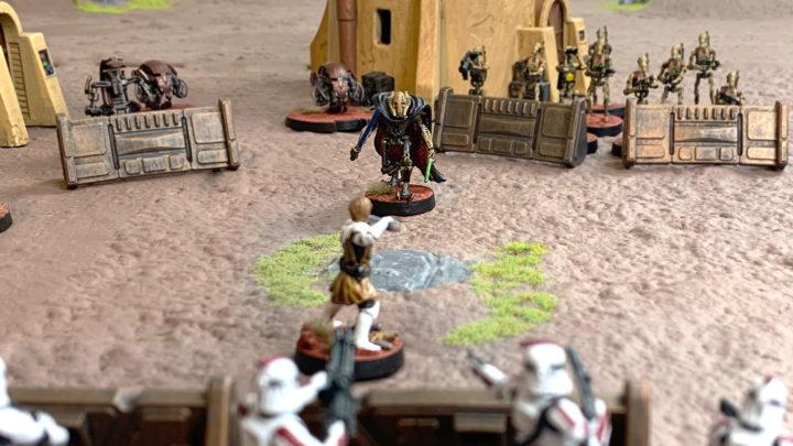 Star Wars Legion Test mit Figuren aus der Grundbox.