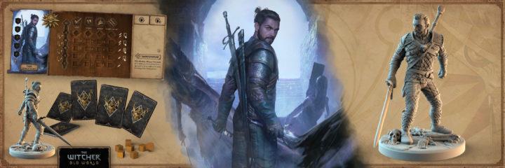 Konzeptzeichnung einer Hexer-Spielfigur aus der Kickstarter-Kampagne von The Witcher: Old World.