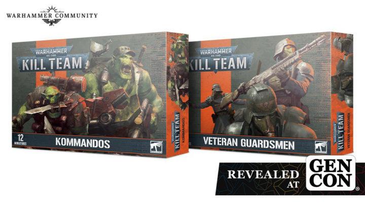 Zwei neue Kill Team Boxen: Kommandos und Veteran Guardsmen.